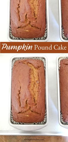This Pumpkin Pound Cake is super moist and topped with a cream cheese frosting is the perfect dessert for fall. This is the BEST Pumpkin cake recipe! The Best Pumpkin Cake Recipe, Pumpkin Pound Cake, Pumpkin Waffles, Pumpkin Cake Recipes, Pound Cake Recipes, Bread Recipes, Easy Recipes, Thanksgiving Desserts, Fall Desserts