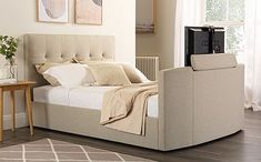 Search   Furniture And Choice Minimal Bedroom, Clean Bedroom, White Bedroom Furniture, Room Ideas Bedroom, Bed Furniture, Modern Bedroom, Ottoman Storage Bed, King Storage Bed, Fabric Chesterfield Sofa