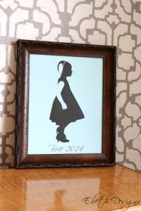DIY: Make a silhouette with your silhouette cameo