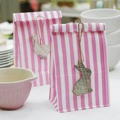 Valentine bunnies easter images pscoa ii pinterest easter yearofcelebrations candy stripe gift bags bunny rabbit easter gift wrap negle Image collections