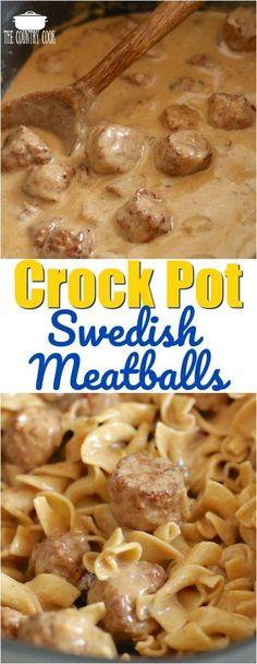 Better than Ikea Crock Pot Swedish Meatballs recipe from The Country Cook #crockpot #meatballs #dinner #appetizers #ideas #recipes