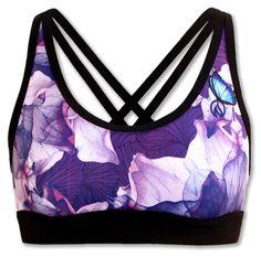 Women's Purple Azalea Sports Bra for running, working out or yoga