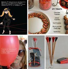 SECRET AGENT BIRTHDAY PARTY | Spy Birthday Party | Pinterest
