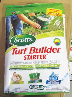 Want a thick, healthy, lush green lawn? Start with Scotts Turf Builder Starter from Central! It grows new grass thicker & quicker, and it's guaranteed not to burn your lawn! It contains a patented, time-release formula to ensure that your lawn gets the nutrients it needs. Apply when planting seed, sod or when overseeding. It's recommended that you apply this 4 times a year. Grows new grass 90% thicker and 50% quicker vs. unfed grass. Pick some up at Central near you & get growing!
