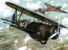 Curtiss Model 68 Hawk III 'First China Ace', by Stan Hajek
