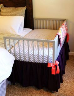 Baby bed attached to parents bed