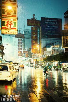 Rainy Chinatown - Bangkok
