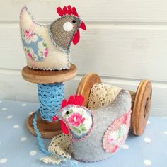 Two French Hens by Bustle & Sew, via Flickr