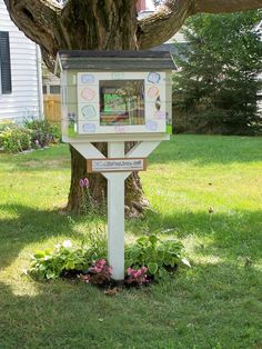This is our new Little Free Library in Caribou, Maine.  Built with love by my family!