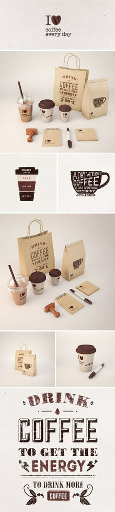{I Love Coffee Every Day} branding by Andrey Zhulidin