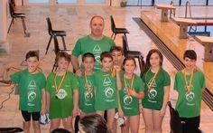 Campomaiornews: Sete lugares no pódio para os nadadores do Sportin...
