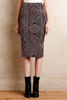Geo-Knit Pencil Skirt - anthropologie.com