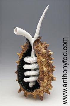 "One Lifetime, 2008 Ceramic Sculpture: paperclay, ""Grogzilla"" sculpture clay… Organic Form, Organic Shapes, Sculpture Clay, Organic Sculpture, Ceramic Sculptures, Organic Ceramics, Papercrete, Paperclay, Ap Art"