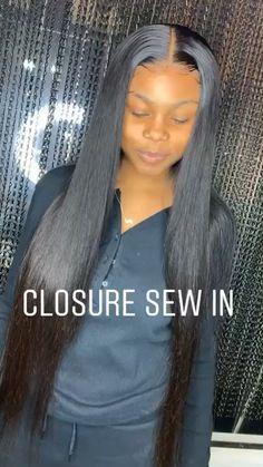 www.cashmerebychelsea.com Instagram: @Cashmerebychelsea Dope Hairstyles, Weave Hairstyles, Black Girls Hairstyles, Straight Hairstyles, Pretty Hairstyles, Straight Sew In, Closure Weave, Sew In Weave, Birthday Hair
