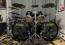Tama Starclassic Maple Japan 8 Piece Double Bass Drum Set Piano Black Lacquer Ex Drum And Bass Double Bass Drum Set Drum Set