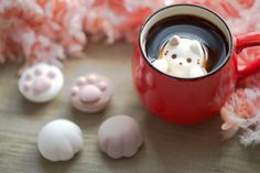 Because everyone loves cats and hot chocolate