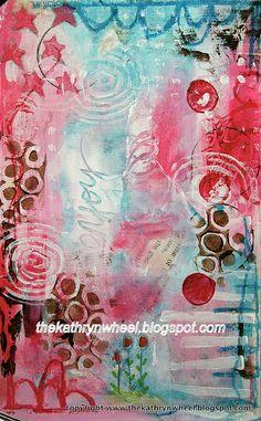 Art journal - background by thekathrynwheel, via Flickr