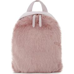 SKINNY DIP Charlie mini faux-fur backpack ($39) ❤ liked on Polyvore featuring bags, backpacks, miniature backpack, brown handle bags, mini bag, mini backpacks and handle bag