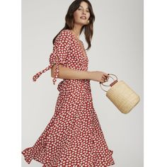 10c186ccc683 Faithfull The Brand Nina Midi Dress in Red Floral Danica Print