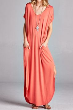 Love Knot Dress - Coral