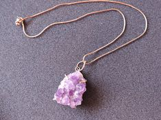 Amethyst Large Quartz Silver Pendant With Included 15 Hallmarked Silver Necklace February Zodiac Birthstone Amethyst Quartz, Quartz Crystal, February Zodiac, Stones And Crystals, Birthstones, 925 Silver, Pendants, Pendant Necklace, Unisex