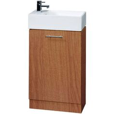 Compact Calvados Floor Standing Bathroom Cabinet & 1TH Basin
