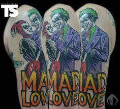 """""""Mad Love"""" Joker tattoo"""
