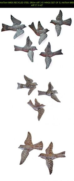 """Haitian Birds Recycled Steel Drum Art 3-d Wings (Set of 5), Haitian Bird Art 5"""" x 4.5"""" #shopping #plans #tech #drone #birds #parts #racing #kit #decor #gadgets #outdoor #fpv #technology #products #camera"""