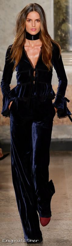 Love the outfit, pass on the choker.  Emilio Pucci Collections Fall Winter 2015-16