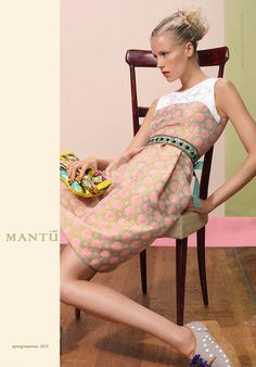 Diana Meszaros Shows Off Mantùs S/S 2013 Collection in WWD by Stefano Moro Van Wyk
