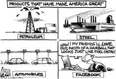 All the products that have made America great. By Chan Lowe #GoComics #Facebook #SocialMedia