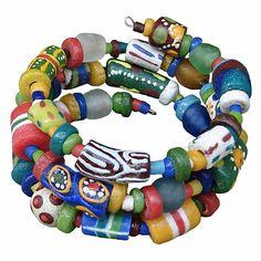 Hodge Podge Spiral Bracelet Rainbow - Global Mamas