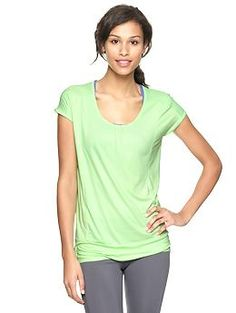 GapFit drapey scoop top | Gap