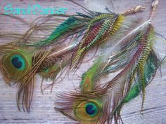 FREE SHIPPING Sand Dancer Feather Earrings Gypsy by infinefeathers, $43.00