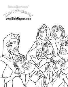 coloring pages zaccheus | free printable coloring pages zacchaeus ... - Jesus Zacchaeus Coloring Page