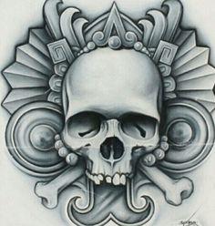 Aztec Tattoo Designs, Aztec Designs, Cholo Art, Chicano Art, Aztec Tattoos Sleeve, Aztec Drawing, Aztec Symbols, Aztec Culture, Lowrider Art