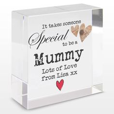 Personalised Someone Special Crystal Block: Item number: 3324419451 Currency: GBP Price: GBP12.95