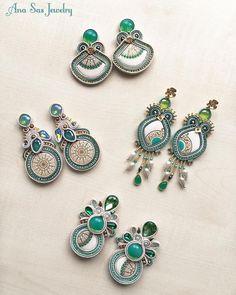 #soutache #earrings #anasasjewelry #statementjewelry #statementearrings #fattoamano #handmade #handmadejewelry #swarovskicrystals…