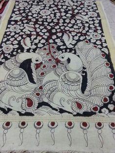 Manufacturers, wholesalers and distributors of Authentic hand painted pen kalamkari dupattas. For wholesale inquries and bulk orders contact Rushabh Sutaria +919909272587 (WhatsApp)