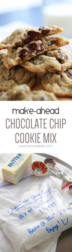 Make-Ahead Chocolate Chip Cookie Mix... I keep this on hand at all times for when I need a quick cookie fix!