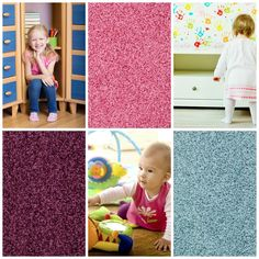 Showbiz is a delightful shag from Tuftex.  It adds  lots of texture and color to a kids room.