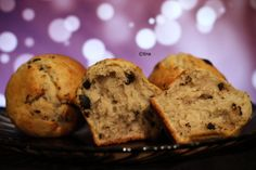 Banana muffins with pieces of chocolate