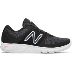 New Balance 365 Cush+ Women's Walking Shoes ($65) ❤ liked on Polyvore featuring shoes, athletic shoes, silver, athletic walking shoes, wide shoes, new balance shoes, pointy shoes and lightweight walking shoes