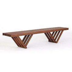 modern slat bench - Google Search