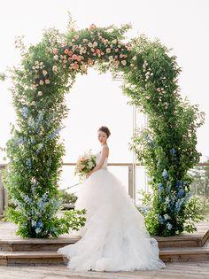 romantic pastel wedding   Stella Yang Photography   Glamour & Grace