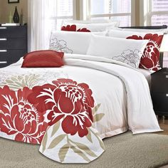 Seasons Collection Coral Chic 7-Piece Duvet Cover Set in Multicolor - Beyond the Rack