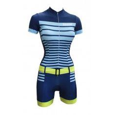 "Davanti bikewear fietspak ""Jill"" navy-yellow"