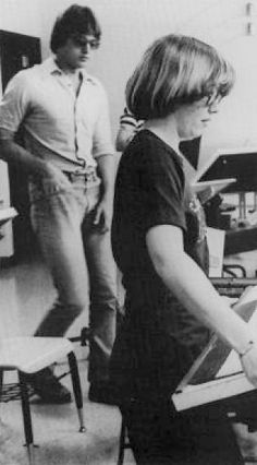 1977: students in drawing studio | Ohio Northern University
