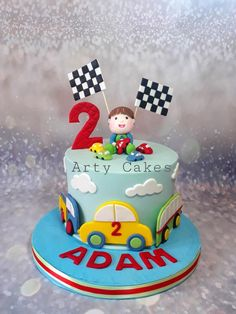 Toys cake by Arty cakes customized cake - cake by Arty cakes Birthday Cake Kids Boys, Truck Birthday Cakes, Make Birthday Cake, Baby Boy Cakes, Cakes For Boys, Cars Theme Cake, Cake Decorating For Kids, Themed Cakes, Car Tuning