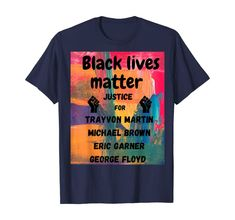 Amazon.com: new graphic post with for black lives matter BLM t shirt T-Shirt: Clothing